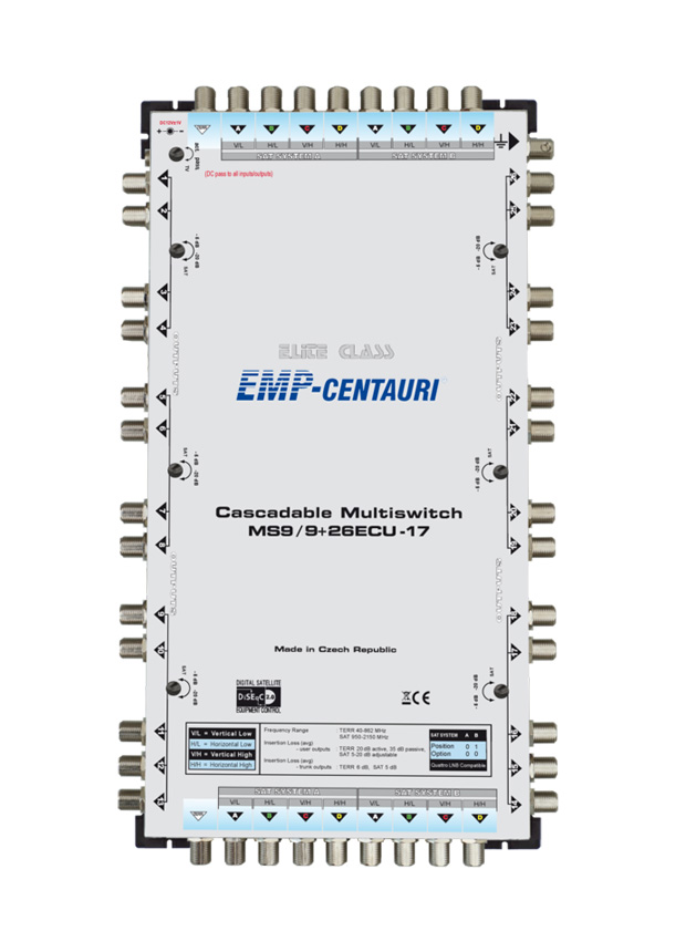Cascadable multiswitch MS9/9+26ECU-17